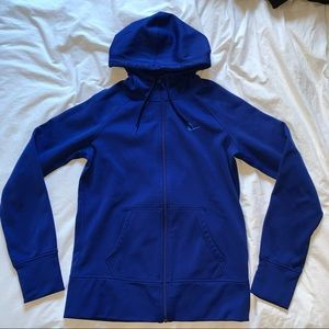 blue Nike women's zip up hoodie